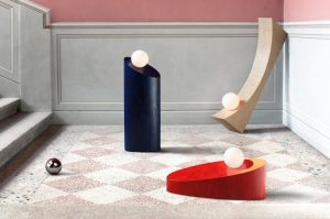 In the Shadow of a Man lighting collection by Child Studio. The curve, colours and flow of this grouping are playful, ...