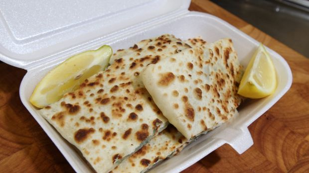 Police say the fight erupted over the amount of cheese in a gozleme, a traditional Turkish pastry dish, seen here in a ...