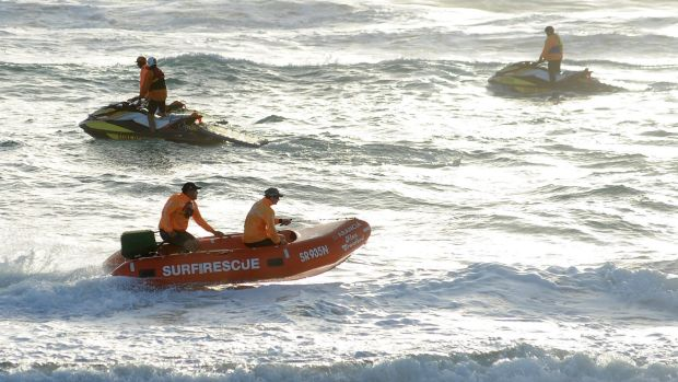 Lifesavers search for Matthew Barclay off the Gold Coast.