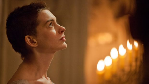Anne Hathaway as Fantine in 'Les Miserables'.
