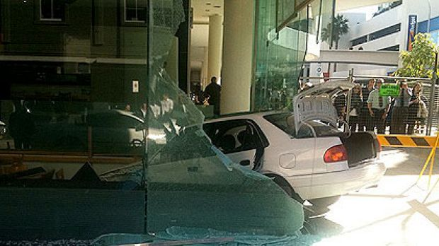 A car sent diners running for cover after smashing through the windows of upmarket Japanese restaurant Matsuri.