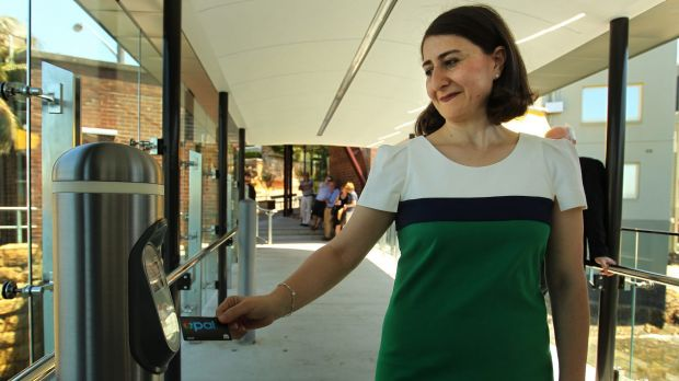 Too soon: Gladys Berejiklian has pushed ahead with scrapping selected paper public transport tickets in favour of the ...