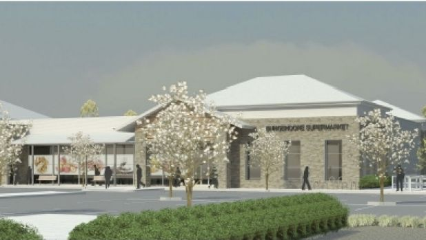 The artist's impression of the new  Bungendore supermarket.
