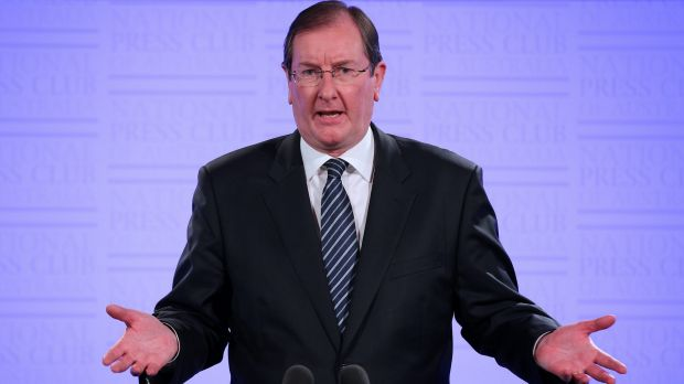 Federal Liberal Party director Brian Loughnane would not comment on claims he advised Mr Grundy to make the donation to ...