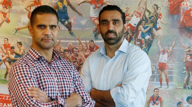 Sydney Swans players Adam Goodes and Michael O'Loughlin