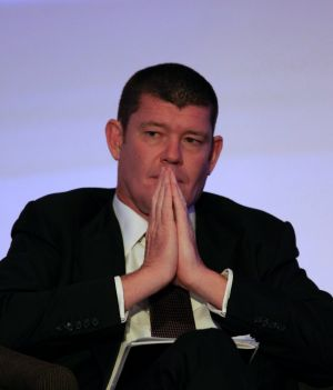 Spinning the wheel again: James Packer's latest Las Vegas foray is driving up Crown's bond risk.