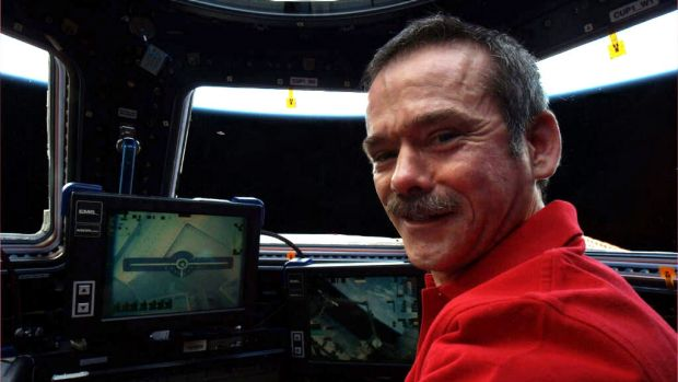 Chris Hadfield when he was aboard the International Space Station.