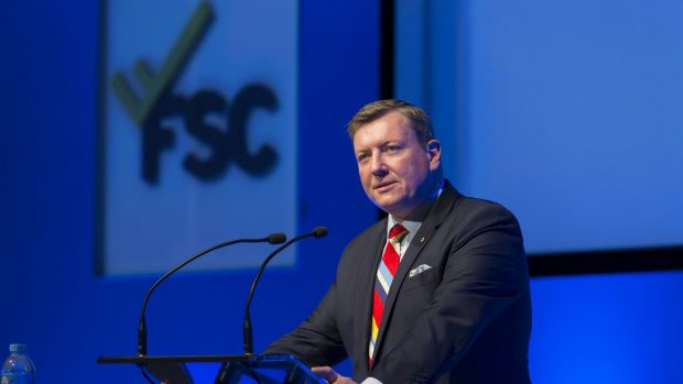 Oversized influence: Financial Services Council chief John Brogden.