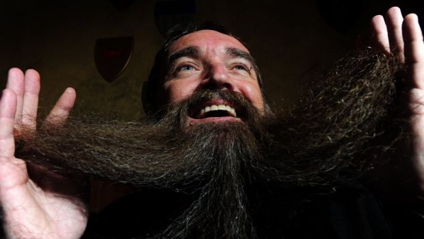 Jason McCormack of Dunlop was deemed the winner of King O'Malleys best beard competition.