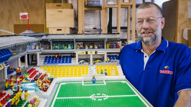 Anthony McLauchlan, with some of his Lego that will be on display for the Brick Expo.
