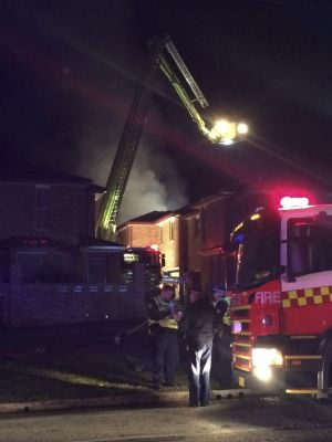 Firefighters at the scene of a blaze in Queanbeyan.