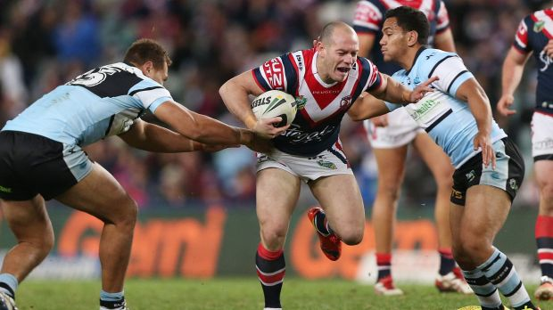 Heath L'Estrange on the charge for the Roosters last year.