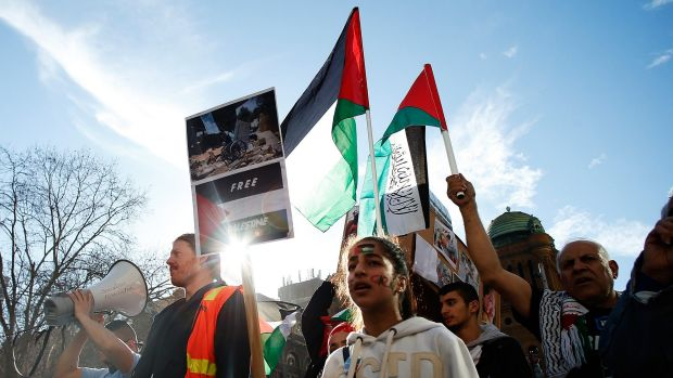 International Day of Protest marked by pro-Palestine supporters in Sydney.
