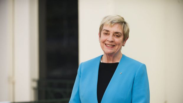 The ACT's first chief minister, Rosemary Follett, at the National Archives.