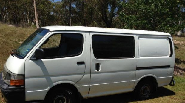 The Hiace van seen nearby on the day.