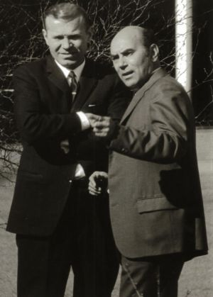 KGB station chiefs in Canberra 1971, Geronty Lazovik (left) and Ivan Stenin.