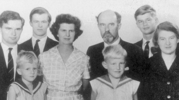 The Clark family in 1962, including Katerina (far right).