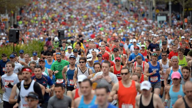 More than 80,000 people took part in this year's 14-kilometre race from the Sydney CBD to Bondi Beach.