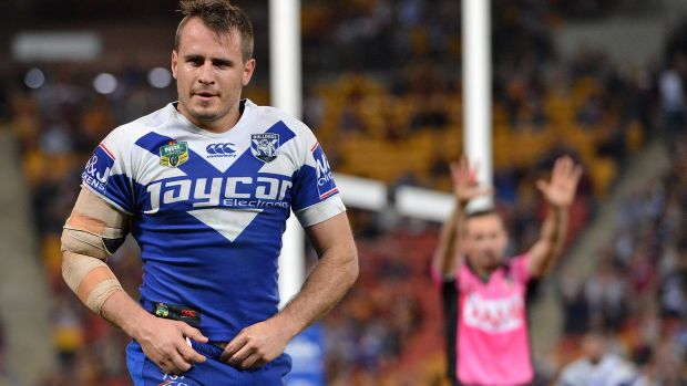 Origin hang-over? Josh Reynolds of the Bulldogs.