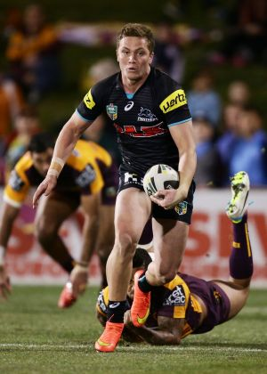 Emerging contenders: Matt Moylan and the Penrith Panthers are in with a good chance of winning this year's premiership.