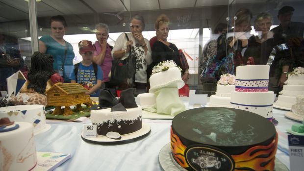 Cake competition at the 2014 Ekka.