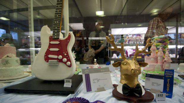 Some of the entries at the Ekka cake competition.