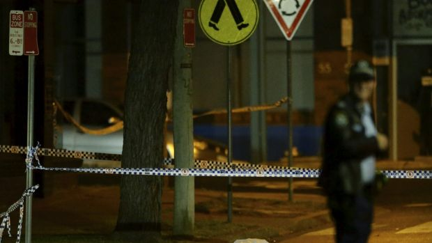 Crime scene: A man shot dead on an inner-west street on Monday afternoon has been identified as Brad Dillon, 25.