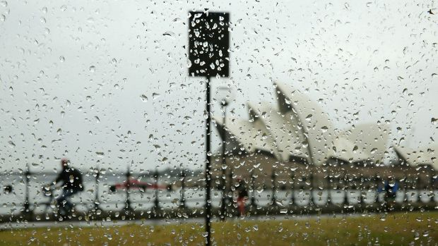 Sydney wakes up to the wettest day since April.