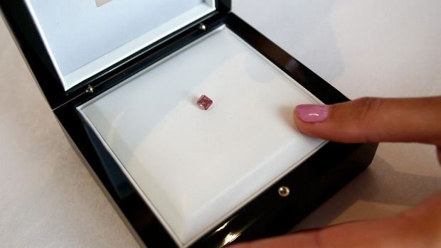 It is believed there are only 30 red diamonds in the world. Last year, one set a record at auction of $1.6 million per carat.
