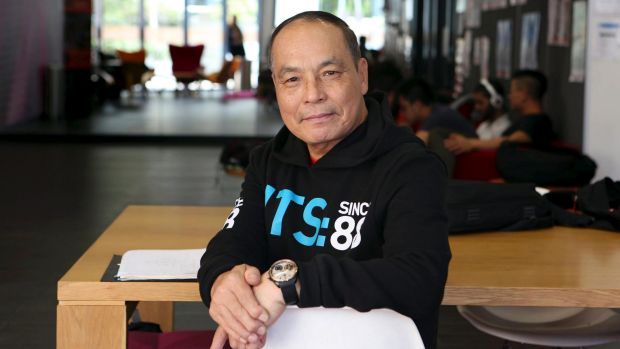Joseph Kim, 68,  retired so he could pursue a new career path, starting with a university undergraduate degree.