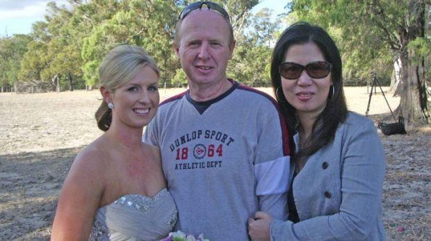 David Farnell and his wife Wendy Li.