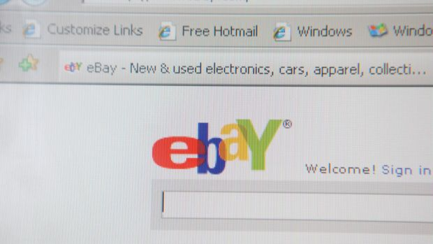 eBay was among the affected websites.