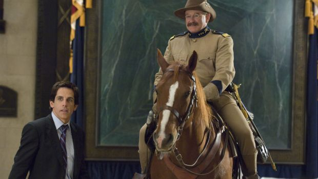 Robin Williams in <i>Night at the Museum</i> sequel.