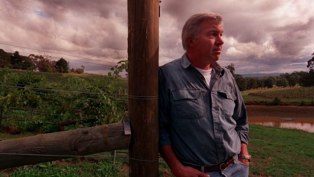 Sees implications for the wider wine industry: Former Penfolds boss Ross Wilson at his vineyard in the Yarra Valley.