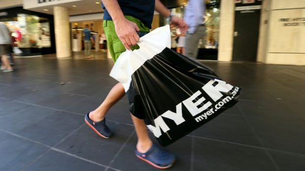 Myer shares have posted their biggest one-day fall since the company listed in 2009.