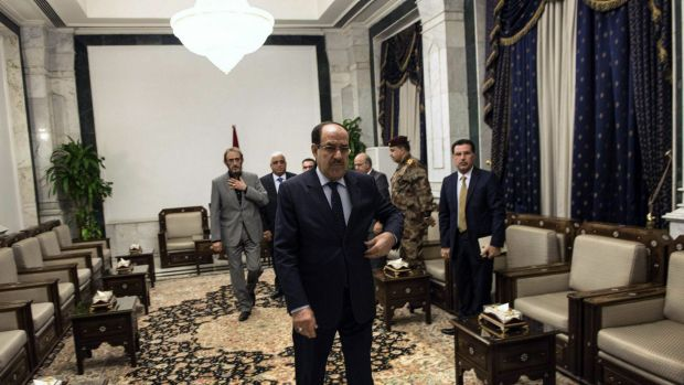 Time up: Iraqi Prime Minister Nouri al-Maliki, seen here ahead of a meeting with US Secretary of State John Kerry in ...
