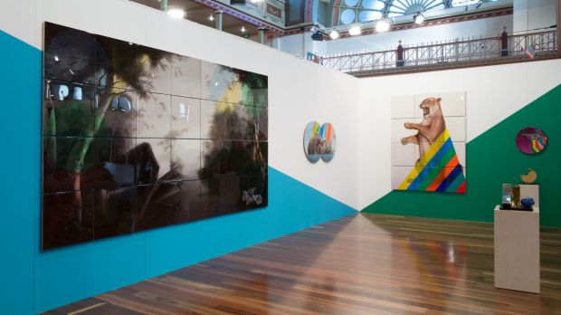 The Sullivan+Strumpf stand at the 2014 Melbourne Art Fair.