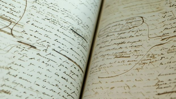 The manuscript of Les Miserables, by Victor Hugo.