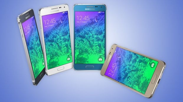 Samsung's latest smartphone, the Galaxy Alpha, has a chamfered metal edge similar to the iPhone 5S and a 4.7-inch screen ...