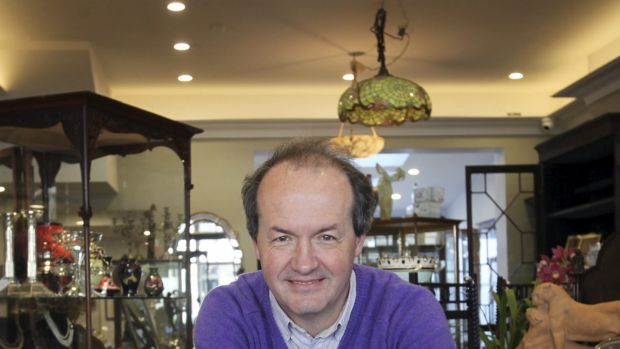 Fountain of knowledge: Sydney antiques dealer Michael Greene says using a vintage pen makes you think before you write.