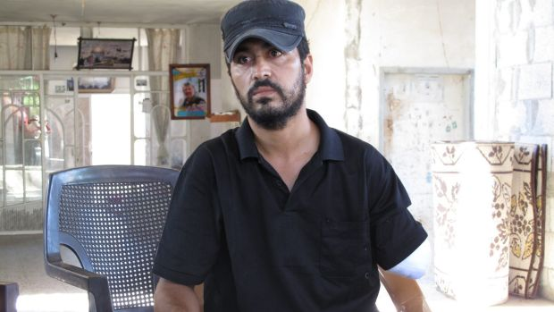 Nabil Siyam, 33, lost his left arm in the attack on July 21 in which his wife and four children were killed. A fifth ...