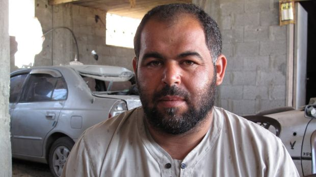 Salah Najjar, 34, who lost eight relatives in one airstrike on July 30, but the Najjar family itself lost 37 in total.