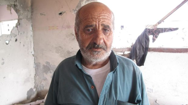 Alian Abu Jarad, 62, survived an attack that left eight dead. ''We have no fighters in our family.''.