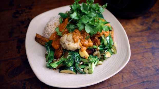 """Payback: The """"Mostly Greens"""" dish at Vegie Bar is perfect for those who want to be kind to their bodies when the late ..."""
