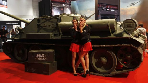 From Russia with love: Moscow game maker Gaijin promoting its World War II games.