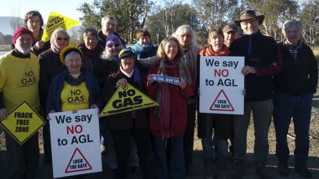 Gloucester residents protesting against AGL.