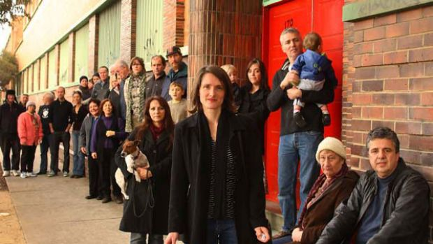 Joanna Stanley, centre, said residents are set for a fight. <i>Picture: Ken Irwin</i>