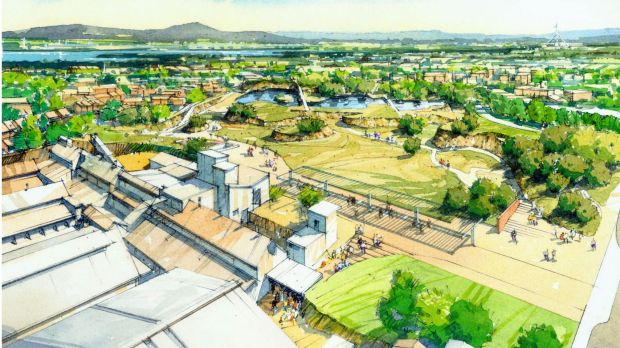 An artist's impression of the proposed Yarralumla brickworks development.