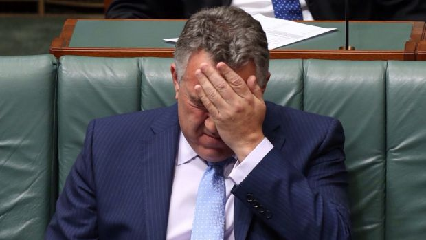 Under pressure: Treasurer Joe Hockey during question time at Parliament House in Canberra.