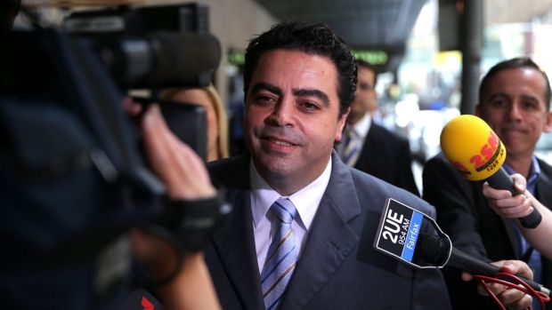 Former Labor powerbroker Joe Tripodi arriving at ICAC earlier this year.